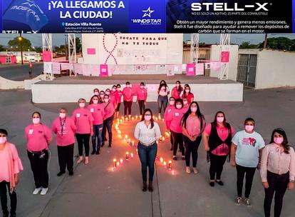 FOTOS: Ayuntamiento de NACO rinde homenaje a mujeres víctimas del cáncer de mama