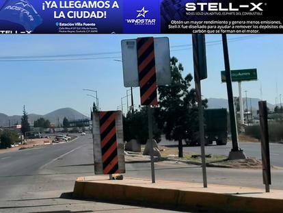 Obstáculo visual ocasiona punto ciego para los automovilistas, en carretera y avenida 23