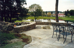Outstanding Walls, Pond and Patio