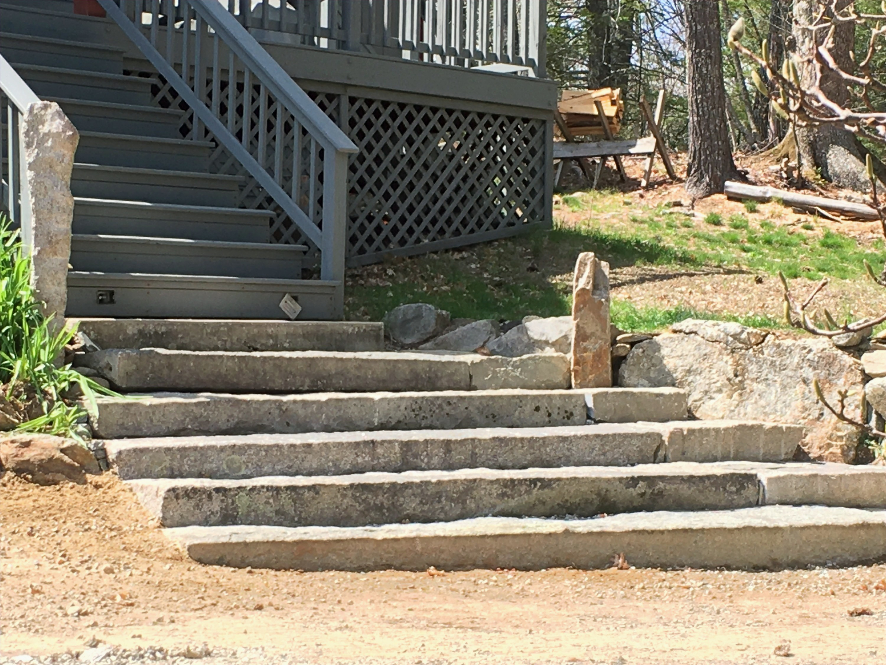 Granite Steps at Front Entry