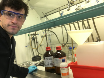 Ali Helps School of Chemistry Prepare Hand Sanitizer for Bristol's Key Workers