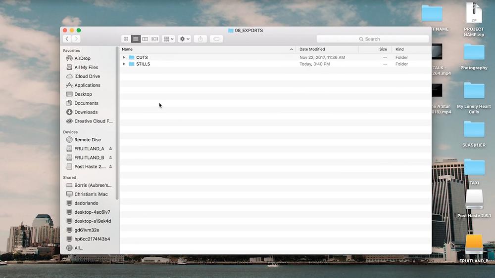 Exports Folder