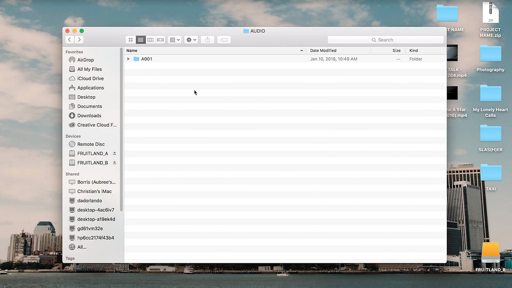 audio folder
