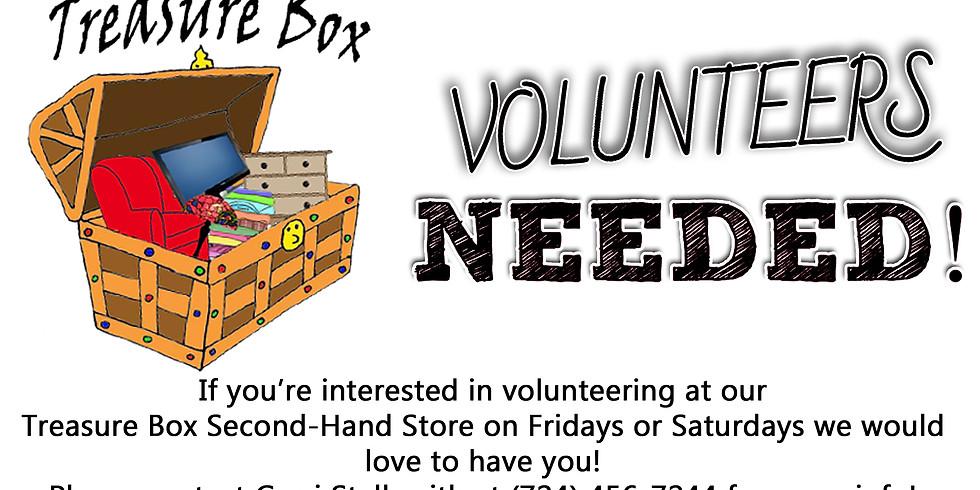 Treasure Box Volunteers Needed