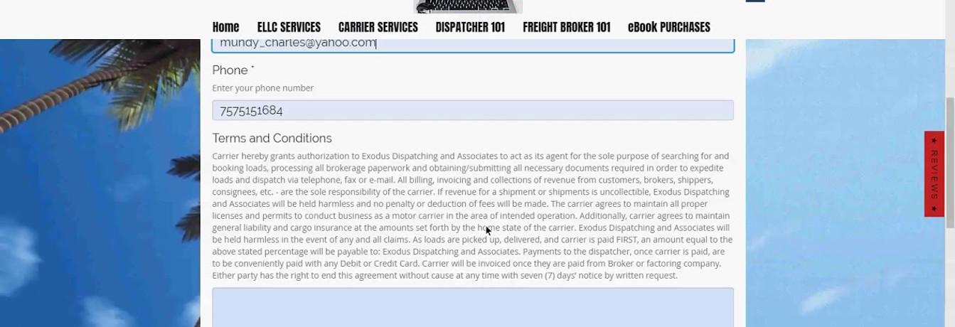7.7.19 Carrier Dispatching Services PSA