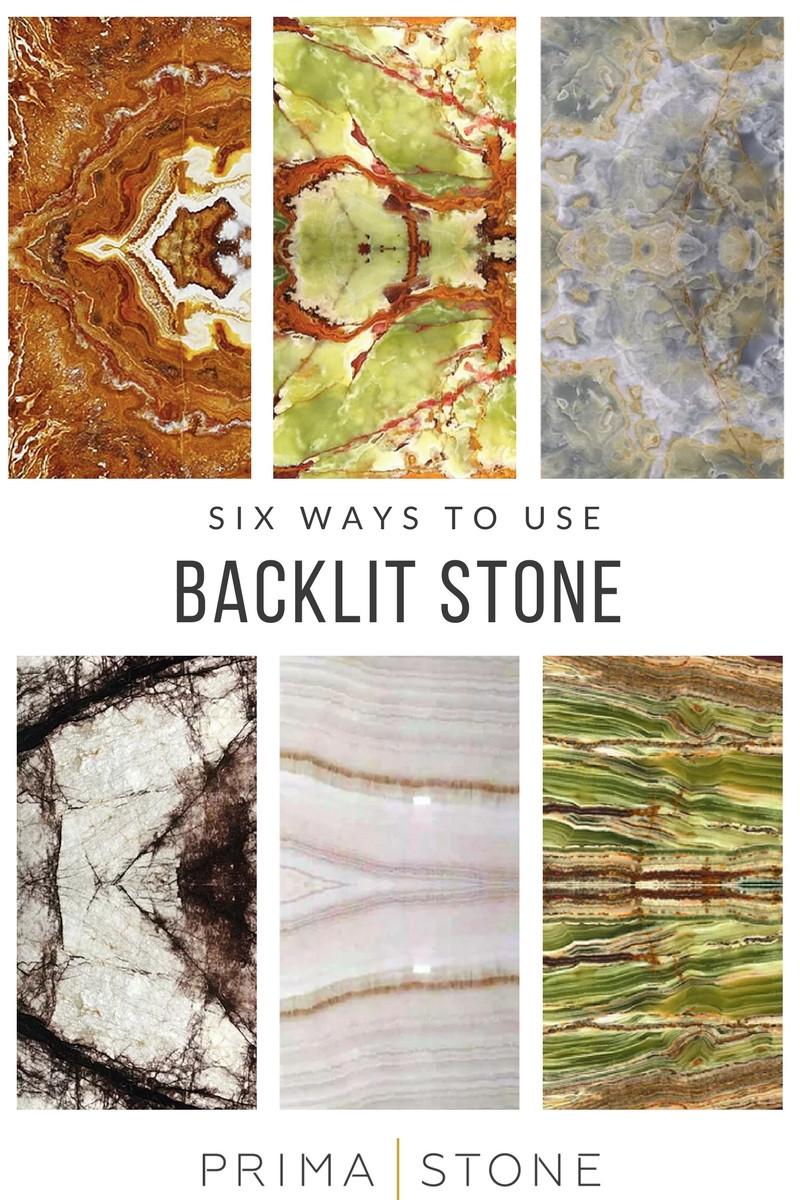 Six ways to use backlit stone