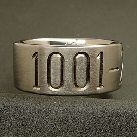 Engraved titanium ring with wedding date