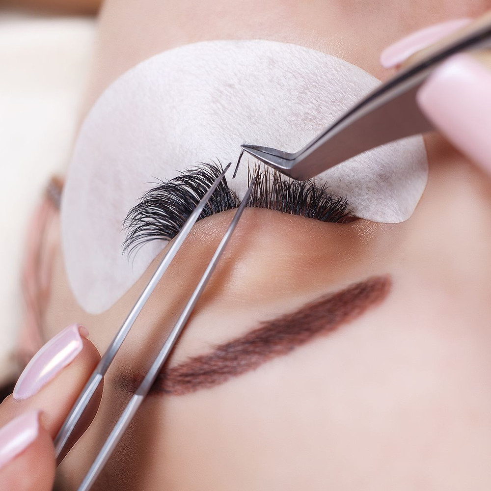 Eyelash extensions application, by Ally, In Gold Coast