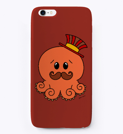 Red Steampunk Octopus IPhone Cover