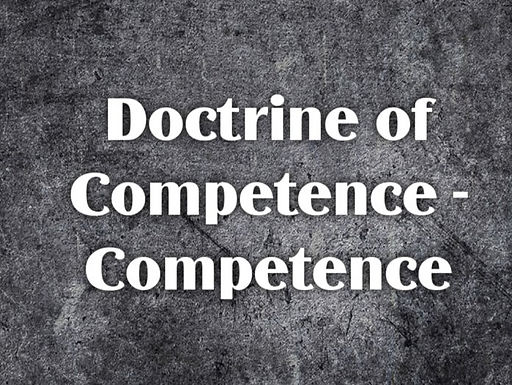 Doctrine of Competence-competence
