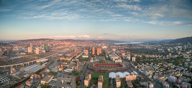 Luftbild Panorama Zürich