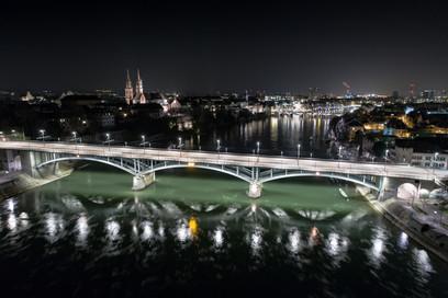 Luftaufnahme Wettsteinbrücke Basel