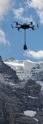 VR Drohne vor dem Jungfrau Joch