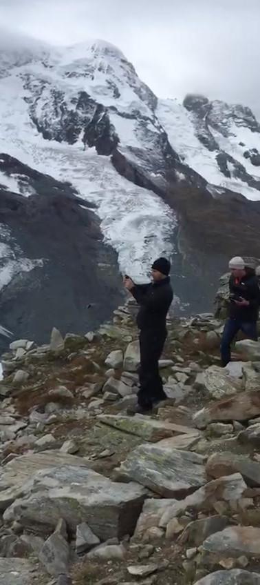 VR Drohne Gletscher