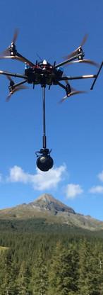 VR 360 Drohne Bergpanorama