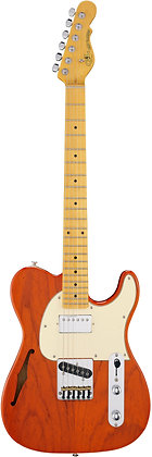 ASAT Classic Bluesboy Semi-Hollow Clear Orange