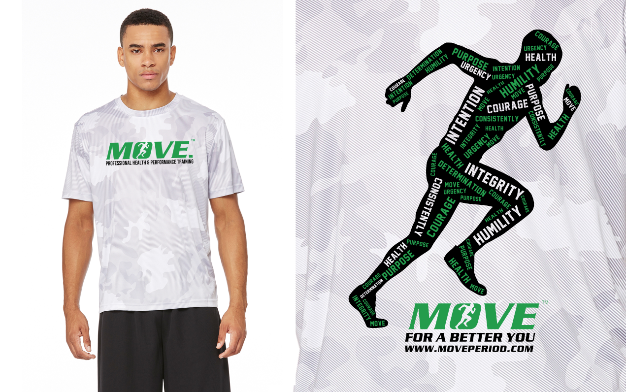 MOVE. 10 Principles White Camo: MOVE Period, Inc.