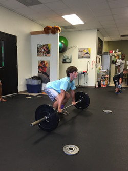 Kerry Marvin performing Olympic lift
