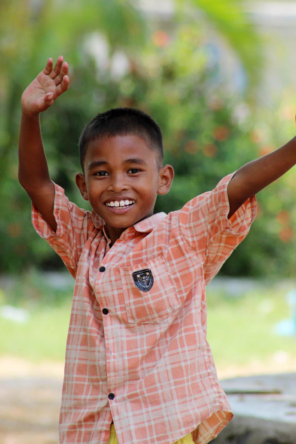 Junge in Kambodscha