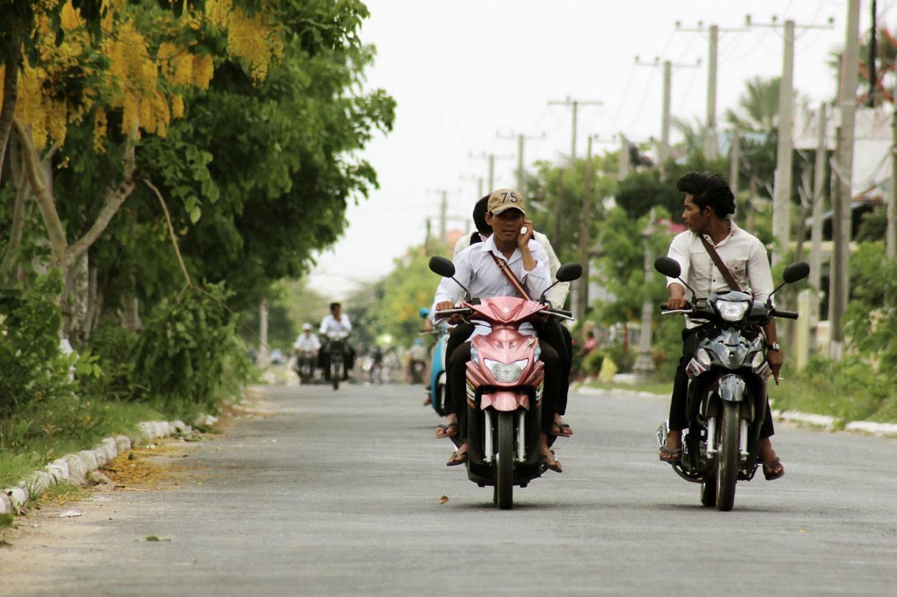 Straße in Kambodscha