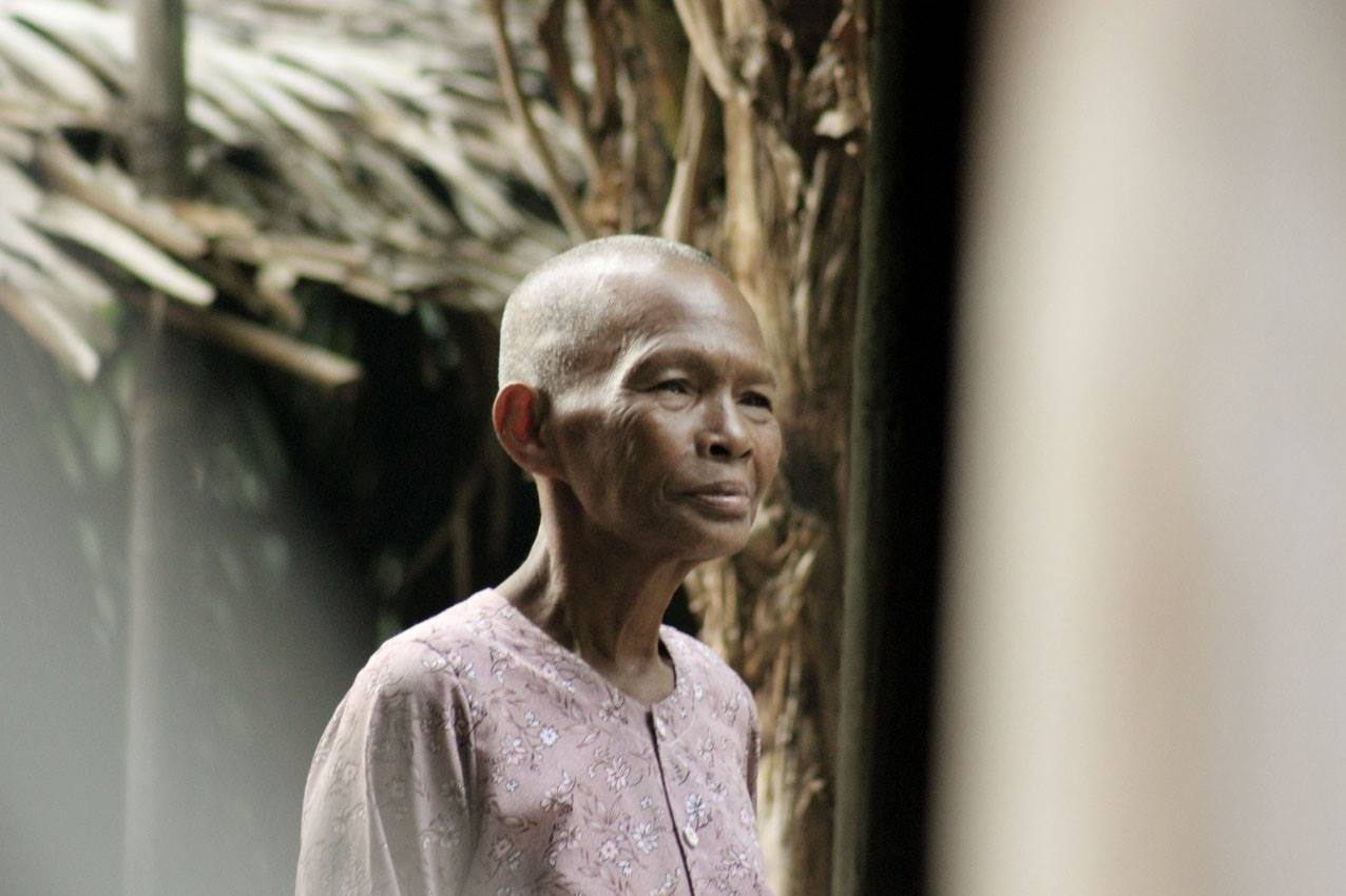 Bäuerin in Kambodscha