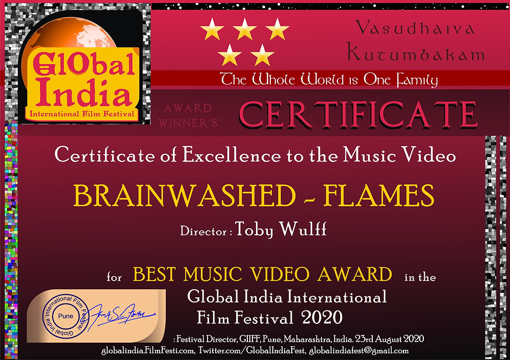 Brainwashed - Flames - Best Music Video 2020 - - Musikvideo in Berlin drehen -Toby Wulff Filmproduktion Berlin