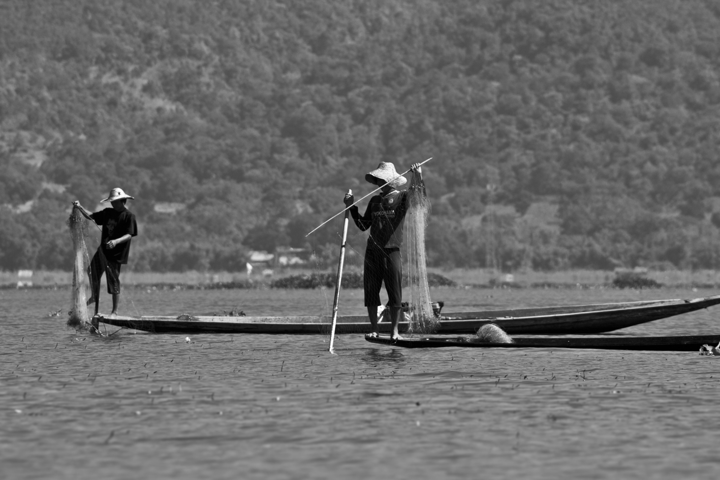 Traditional fisherman at Lake Inle