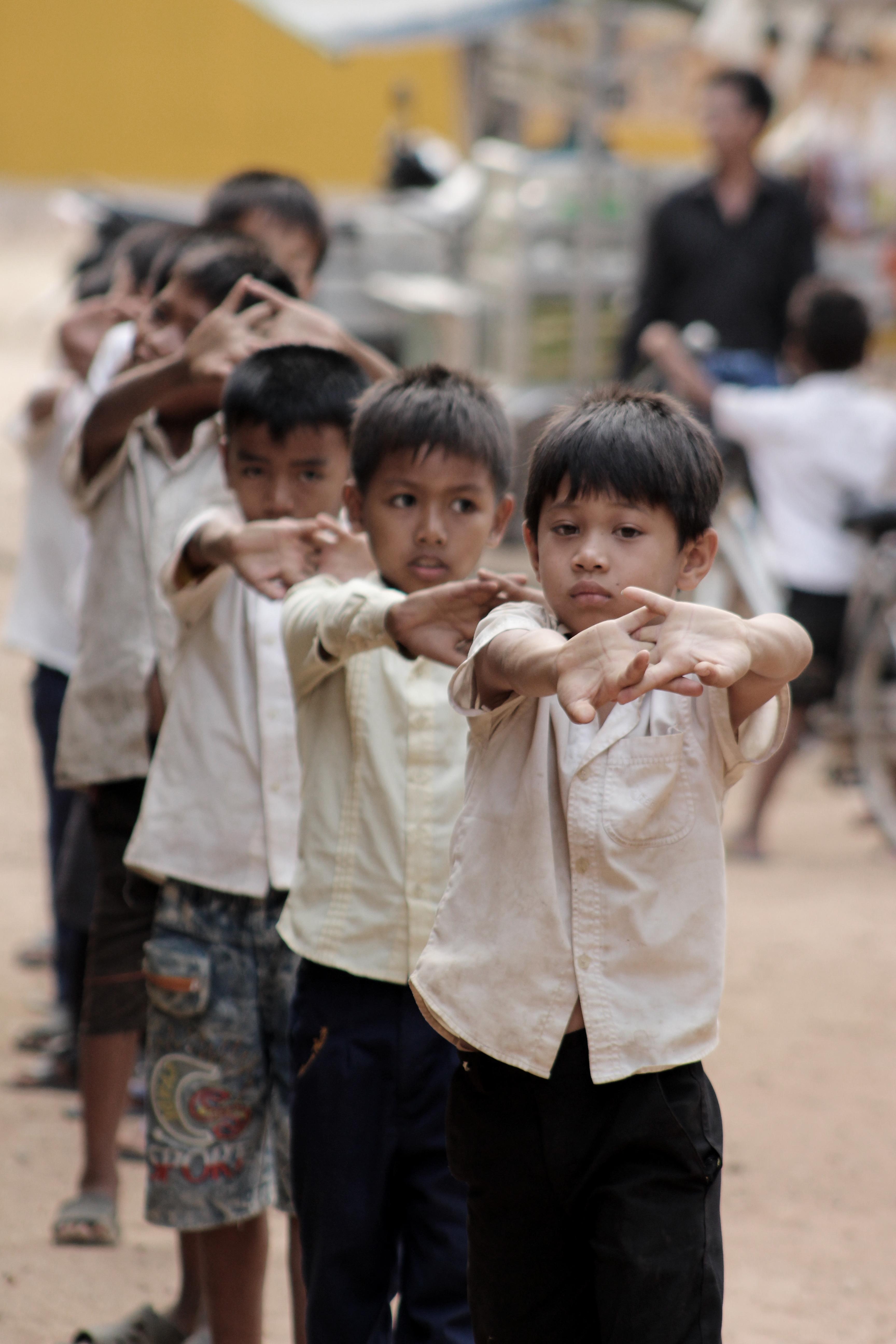 Frühsport in Kambodscha