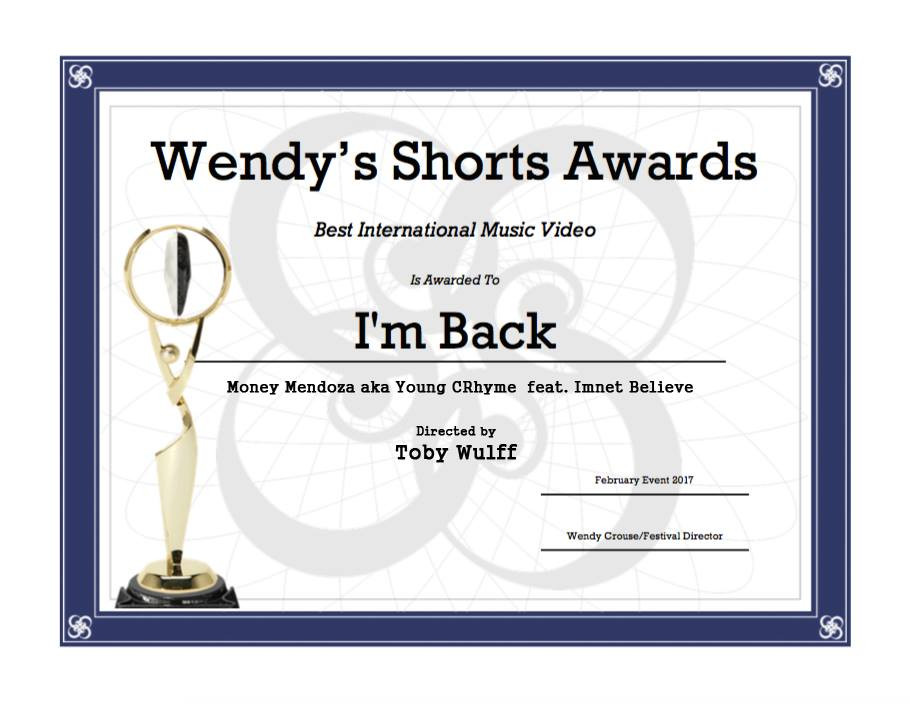 Best International Music Video - Wendy's Shorts Awards