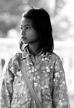 Mädchen in Kambodscha