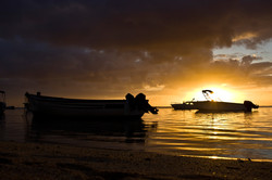 Sunset at Lux Le Morne, Mauritius