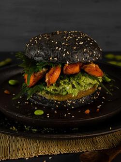 Japanischer Salzlachs Burger