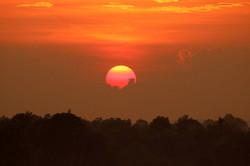 Sonnenuntergang in Südkambodscha