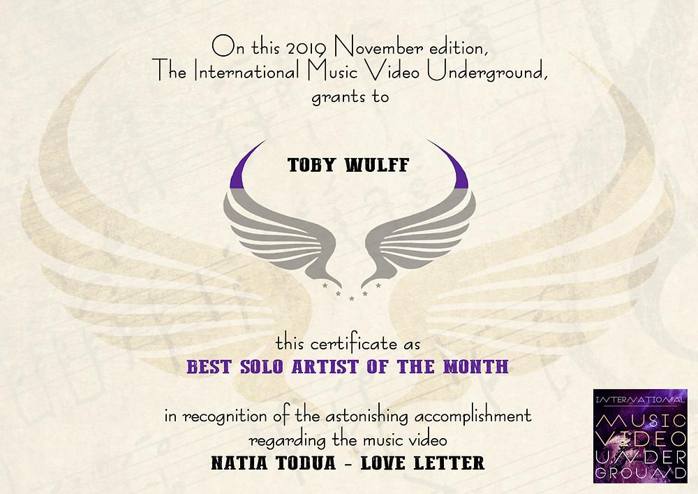 Musikvideo Natia Todua - Love Letter