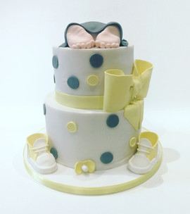 Baby Shower Cake - Yellow