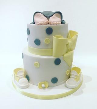 Baby Shower Cake - Yellow