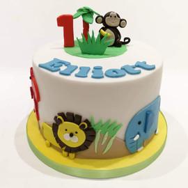 1st Birthday Cake (Monkey)