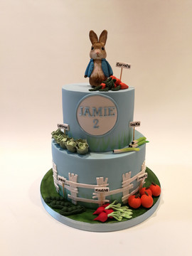 2 tier Peter Rabbit Cake (Blue)