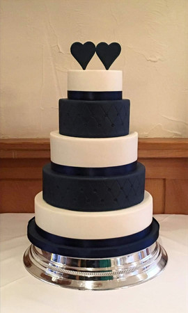 5 Tier Navy & White