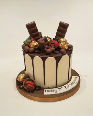 Dark Chocolate Drip Cake