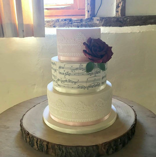 Music and Lace Wedding Cake