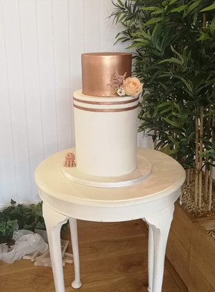Extra Tall Ivory & Gold