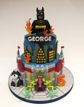 2 Tier Batman Lego Cake