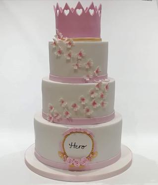 3 Tier Christening Cake