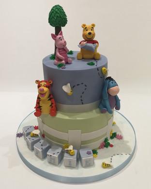 2 Tier Winnie the Pooh Cake