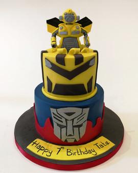 2 Tier Transformers Cake