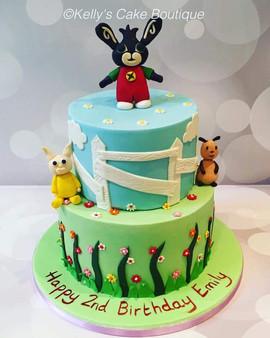 2 Tier Bing Bunny Cake