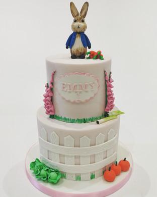 2 Tier Peter Rabbit Cake (Pink)
