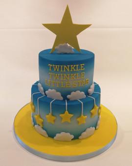 2 Tier Twinkle, Twinkle Christening Cake