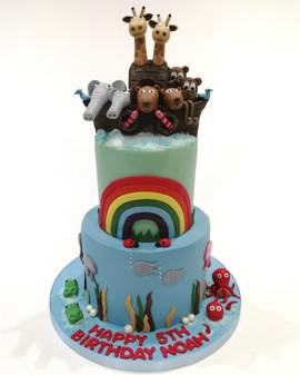2 Tier Noah's Ark Cake
